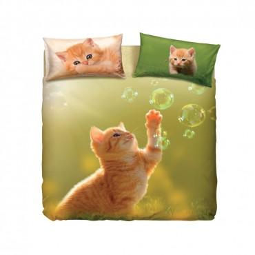 coppia lenzuola play cat