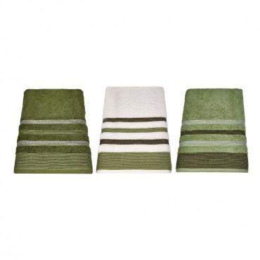 tris multicolor asciugamani